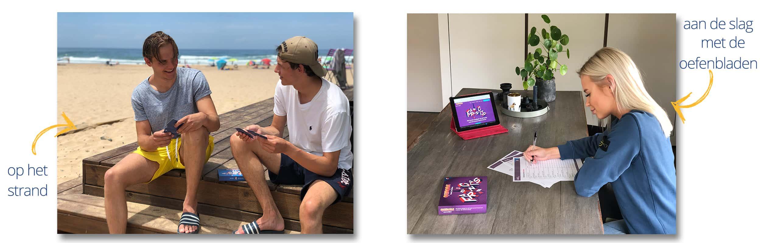 Tieners spelen het taalspel samen en alleen